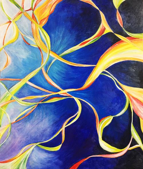 油絵作品「宇宙空間」