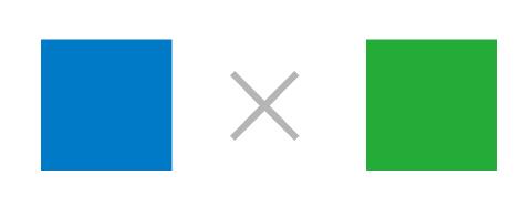 青色と緑色の色の組み合わせ