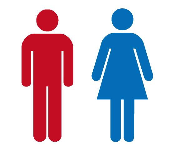 色の先入観(トイレのマークの色を意図的に変えてみた)
