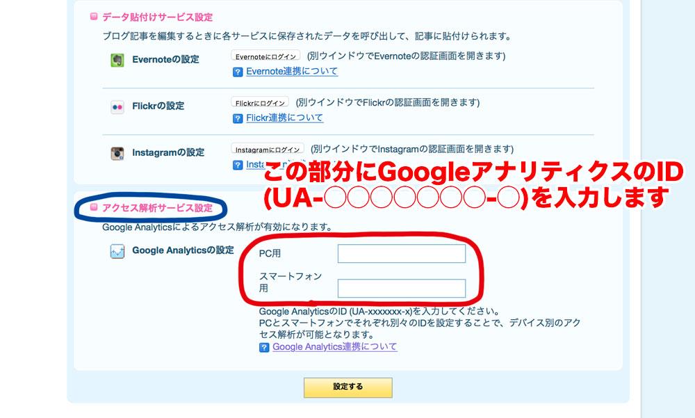 ライブドアブログにGoogleアナリティクスを設定する(アクセス解析)