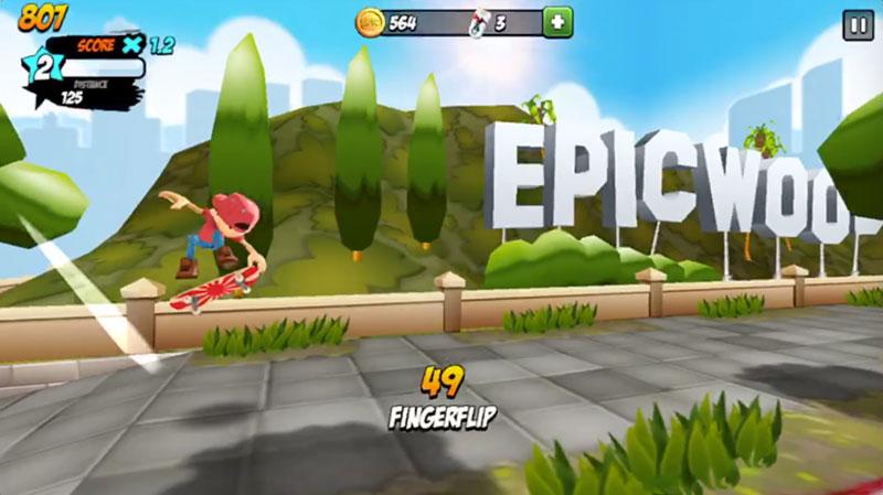 Epic Skaterフィンガーフリップ