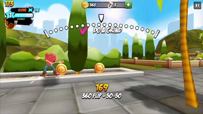 Epic Skater360フリップ+50-50