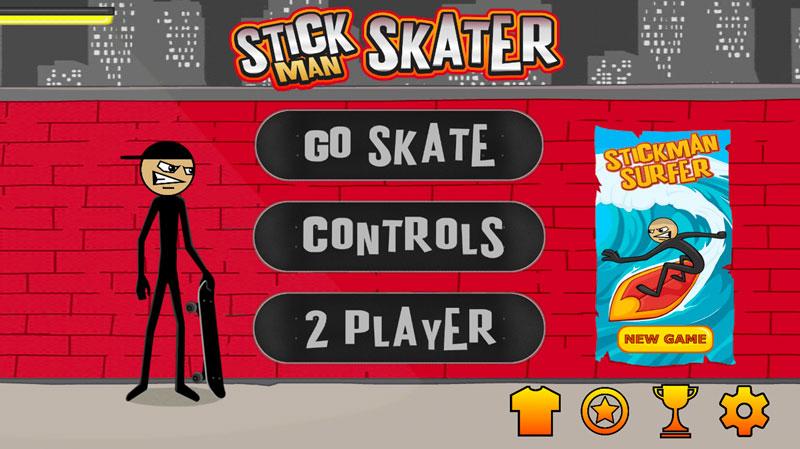 Stick Skaterホーム画面