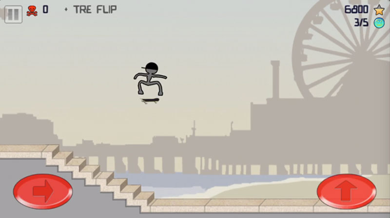 Stick Skaterトレフリップ