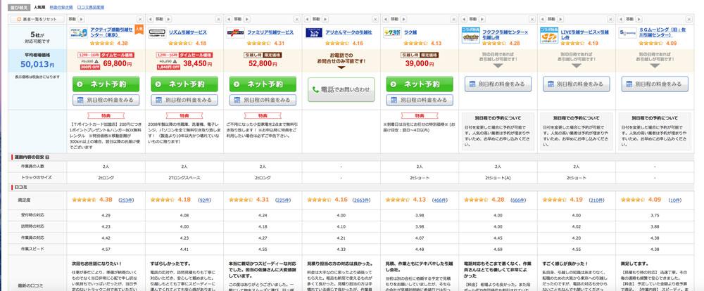 引越し侍公式サイト