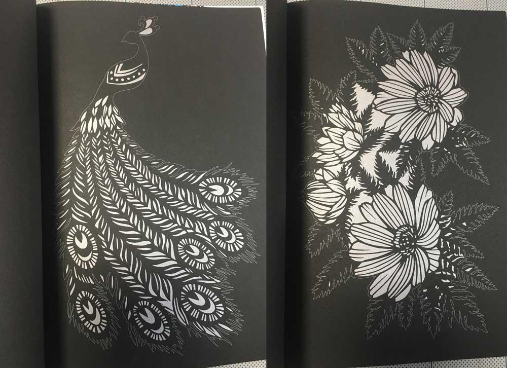 自律神経が整う美しい切り絵の32の図案