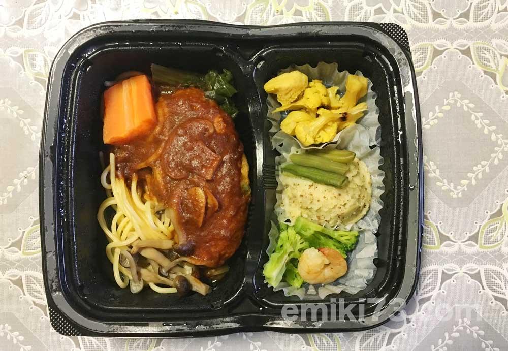 noshの「ハンバーグと温野菜のデミ」を実食