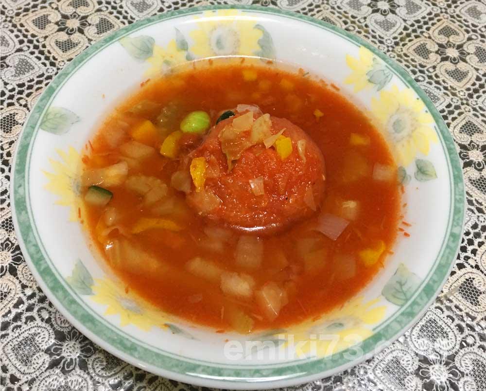 noshの「丸ごとトマトのミネストローネ」を実食