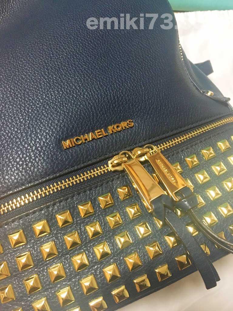 シェアル(SHAREL)でブランドバッグをレンタルした『Michael Kors/スタッズ バックパック』